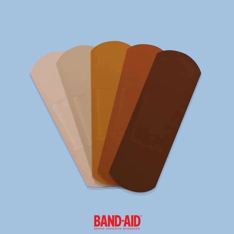 Brown and Black Bandages by BAND-AID