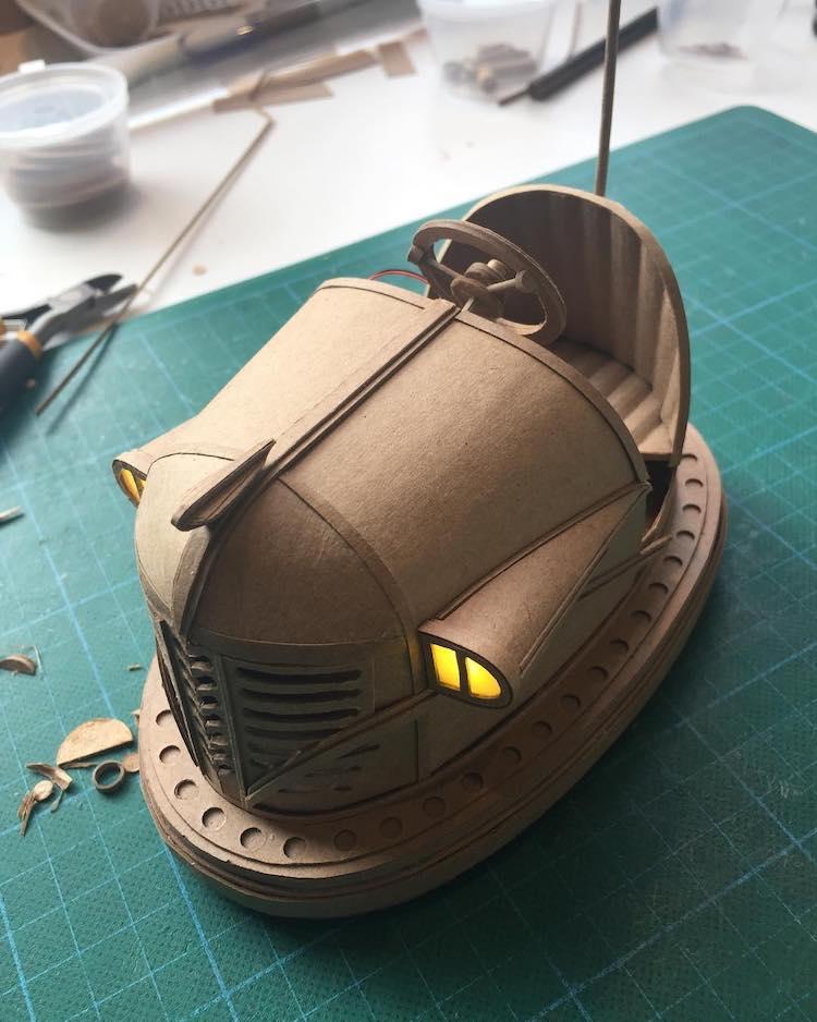 Cardboard Robots by Greg Olijnyk