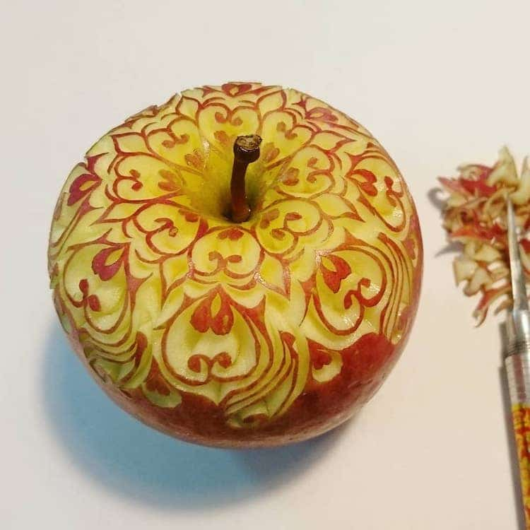 Carved Fruit and Vegetable Art by Takehiro Kishimoto