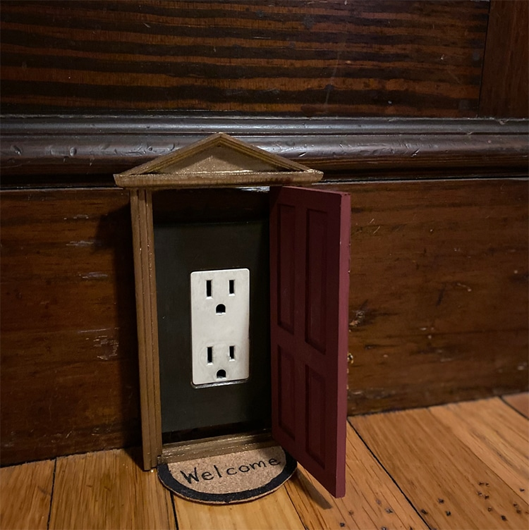 Dollhouse Door Outlet Cover
