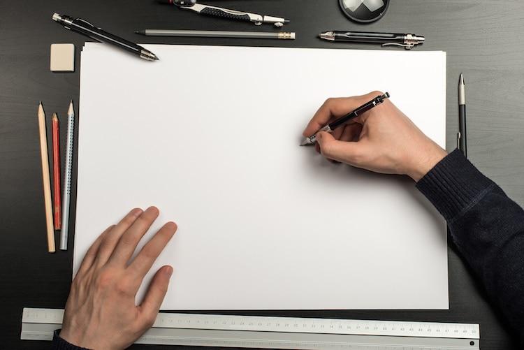 dibujar con plumas