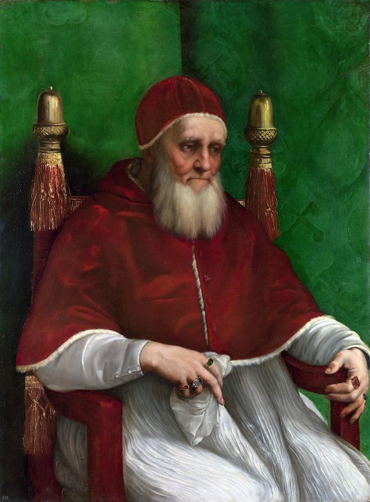 Papa julio II por Rafael