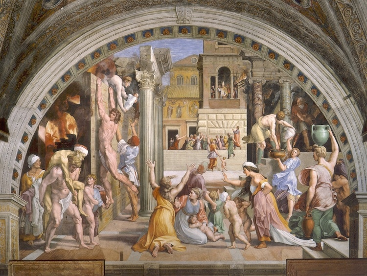 The Fire in the Borgo by Raphael