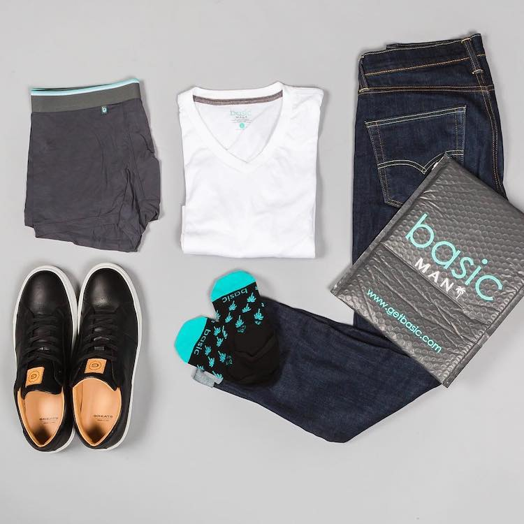 Men's Basic Clothing Subscription Box