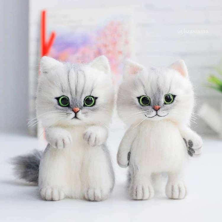 muñeco de gato por Elizabeth Delektorskaya