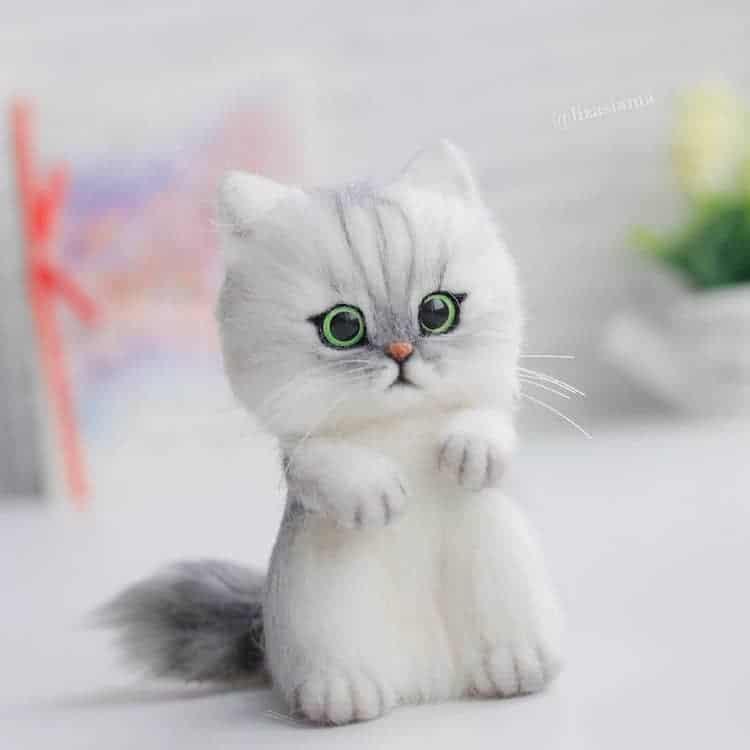gato de fieltro por Elizabeth Delektorskaya