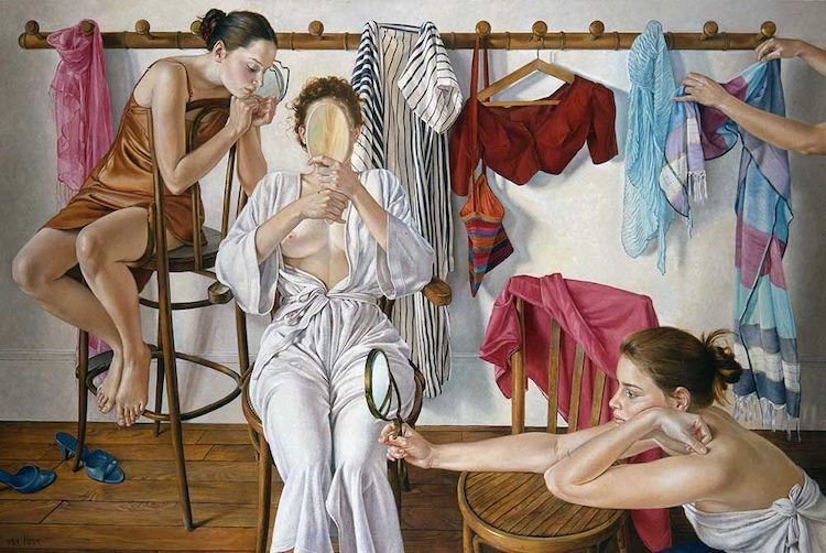 Romantic Paintings of Women by Francine Van Hove