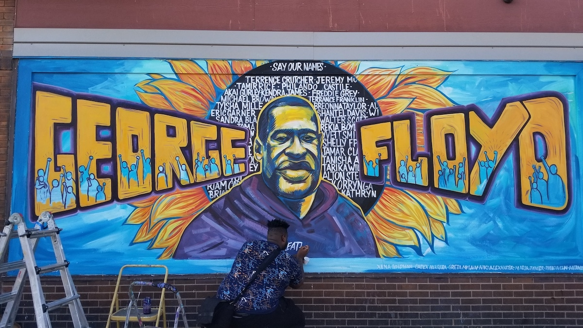 George Floyd Memorial Mural Minneapolis