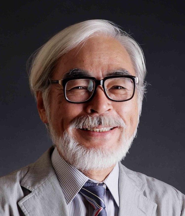 Retrato de Hayao Miyazaki