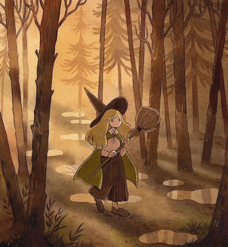 ilustracion con acuarela por Heikala