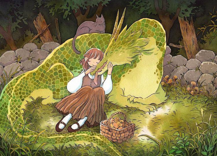 ilustracion fantastica por Heikala