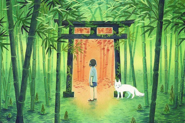 ilustracion de inspiracion japonesa