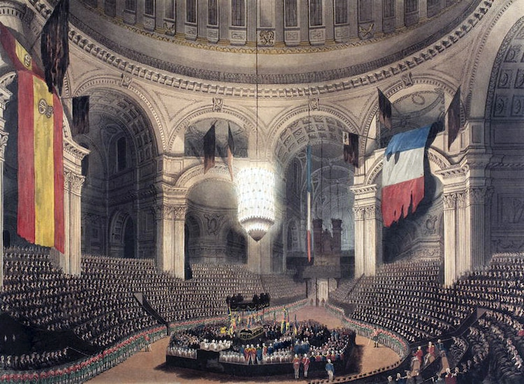 Painting of Horatio Nelson's Funeral