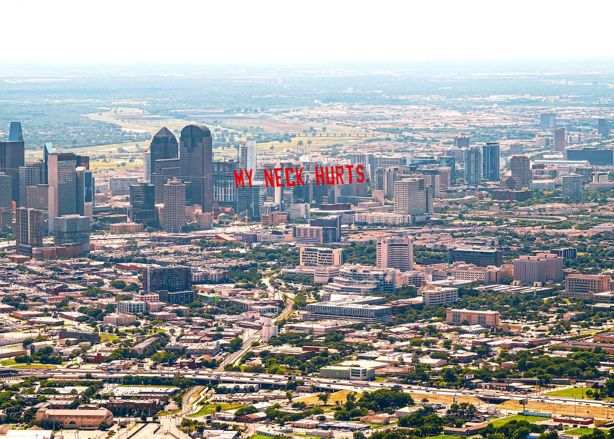 George Floyd Airplane Banner Over Dallas by Jammie Floyd