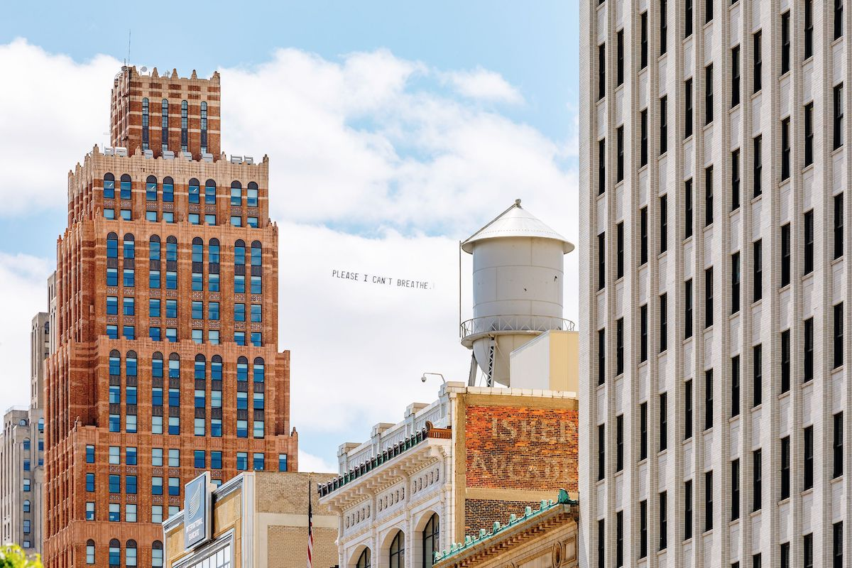 George Floyd Airplane Banner Over Detroit by Jammie Floyd