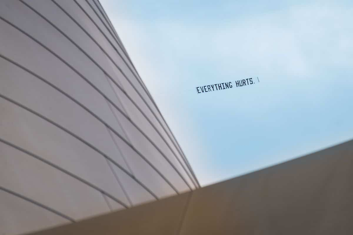 George Floyd Airplane Banner Over Los Angeles by Jammie Floyd