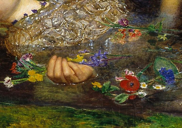 Detail of 'Ophelia'