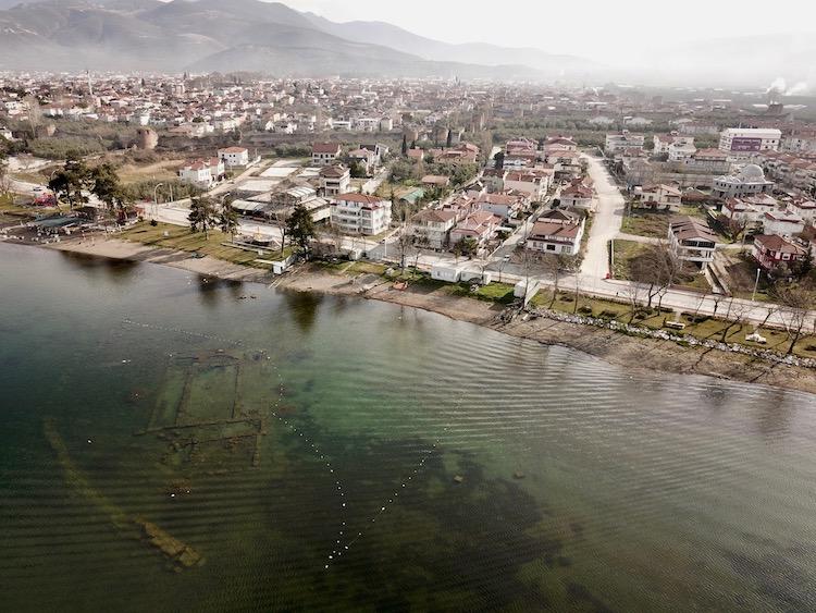 Underwater Basilica in Lake Iznik, Turkey