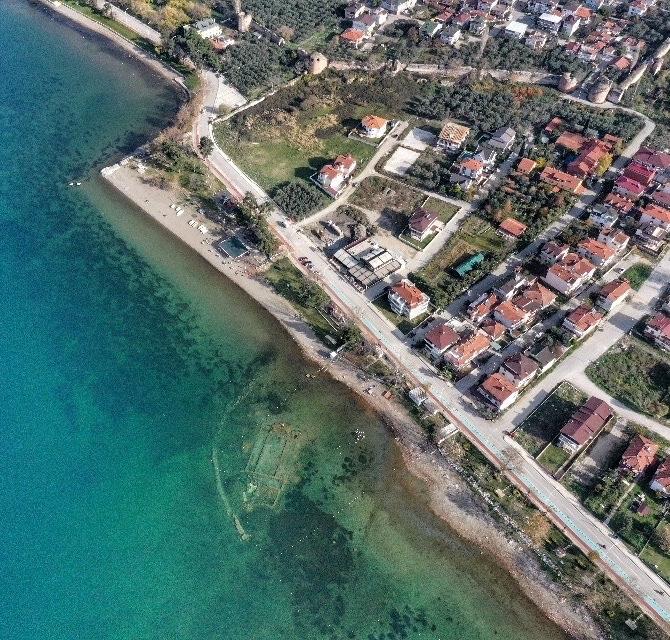 Ancient Basilica Sunk Underwater in Turkey