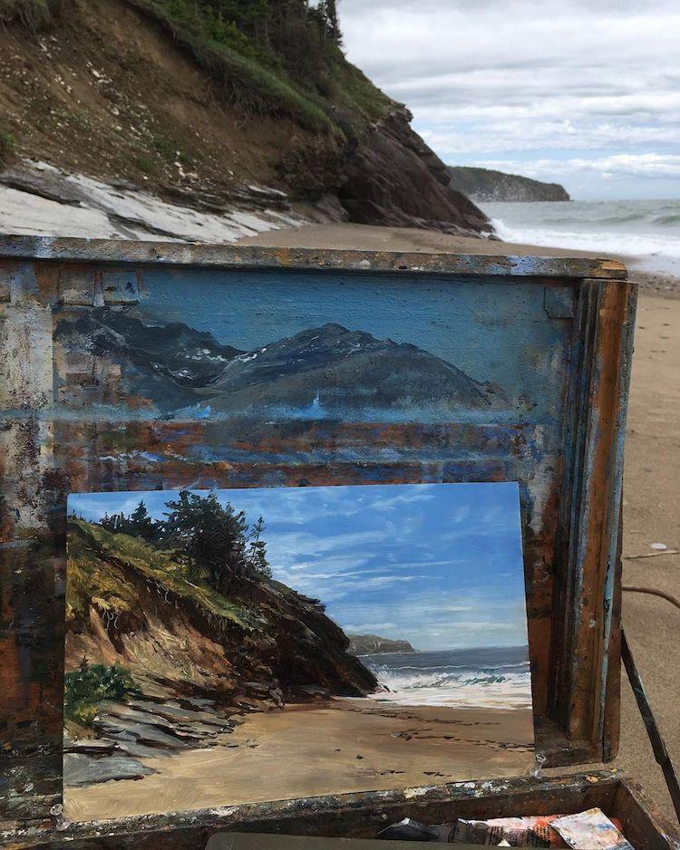 pinturas de paisajes por Erik Koeppel