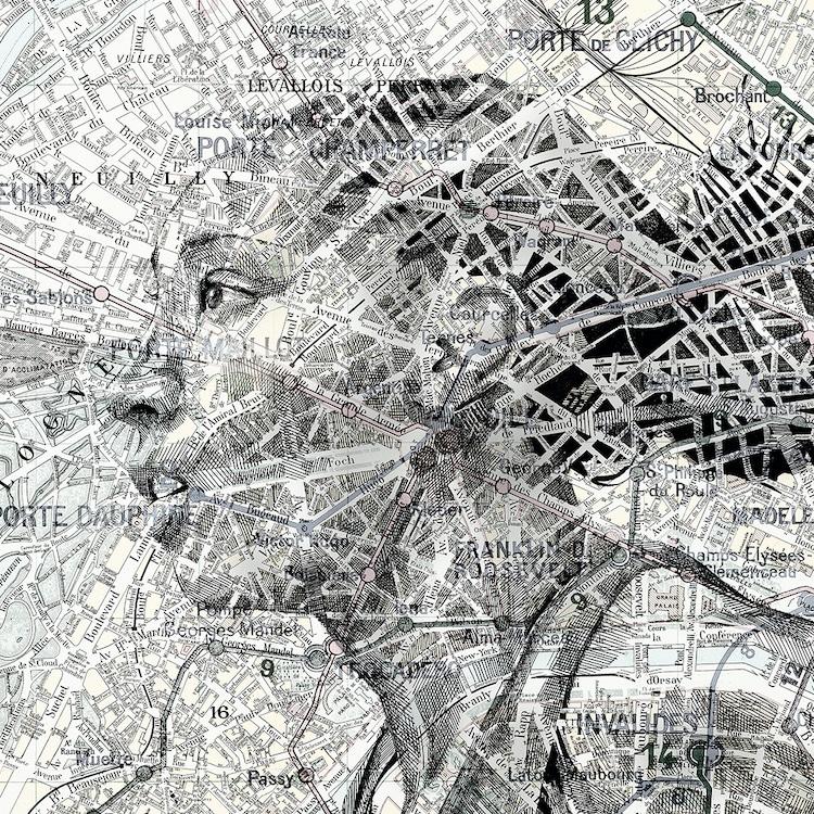 Map Art by Ed Fairburn