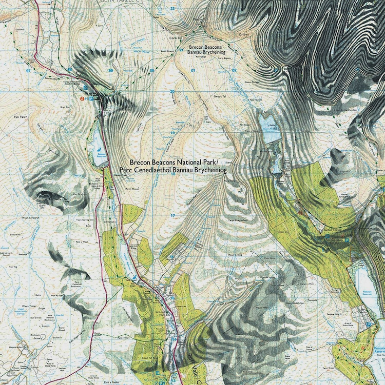 Map Art by Ed Fairburn