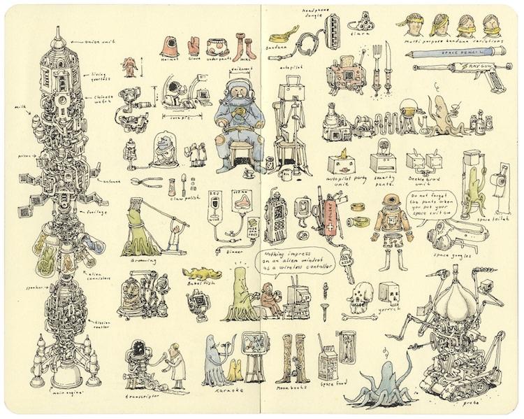 Sketchbook Art by Mattias Adolfsson
