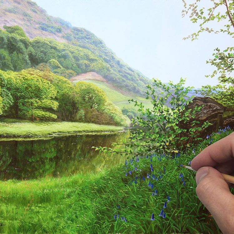 Photorealistic Landscape Paintings by Michael James Smith