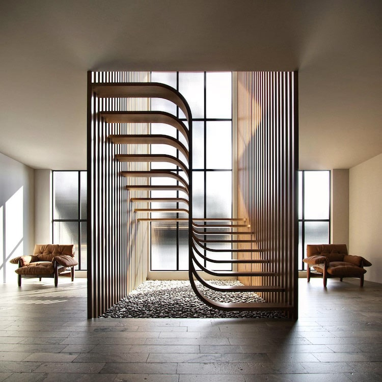 3D Rendering of Stairs