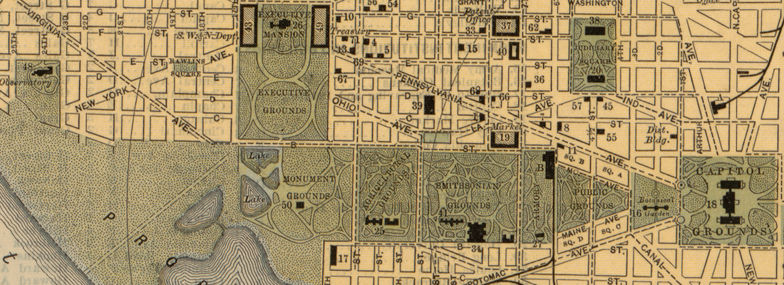 Map of the Mall in 1893