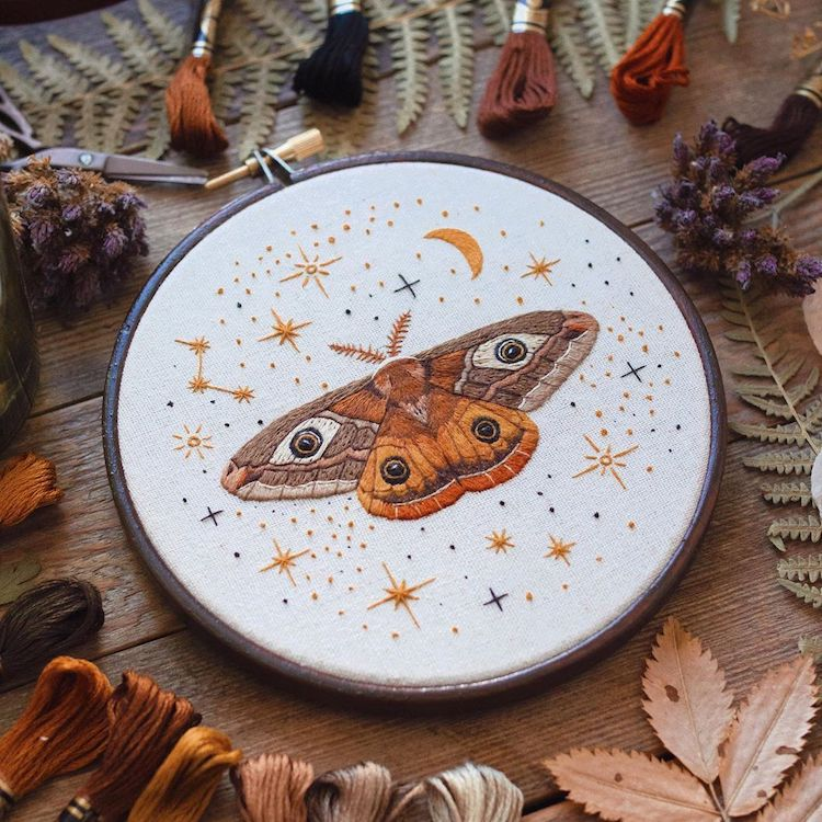 Needle Painting Embroidery by Emillie Ferris