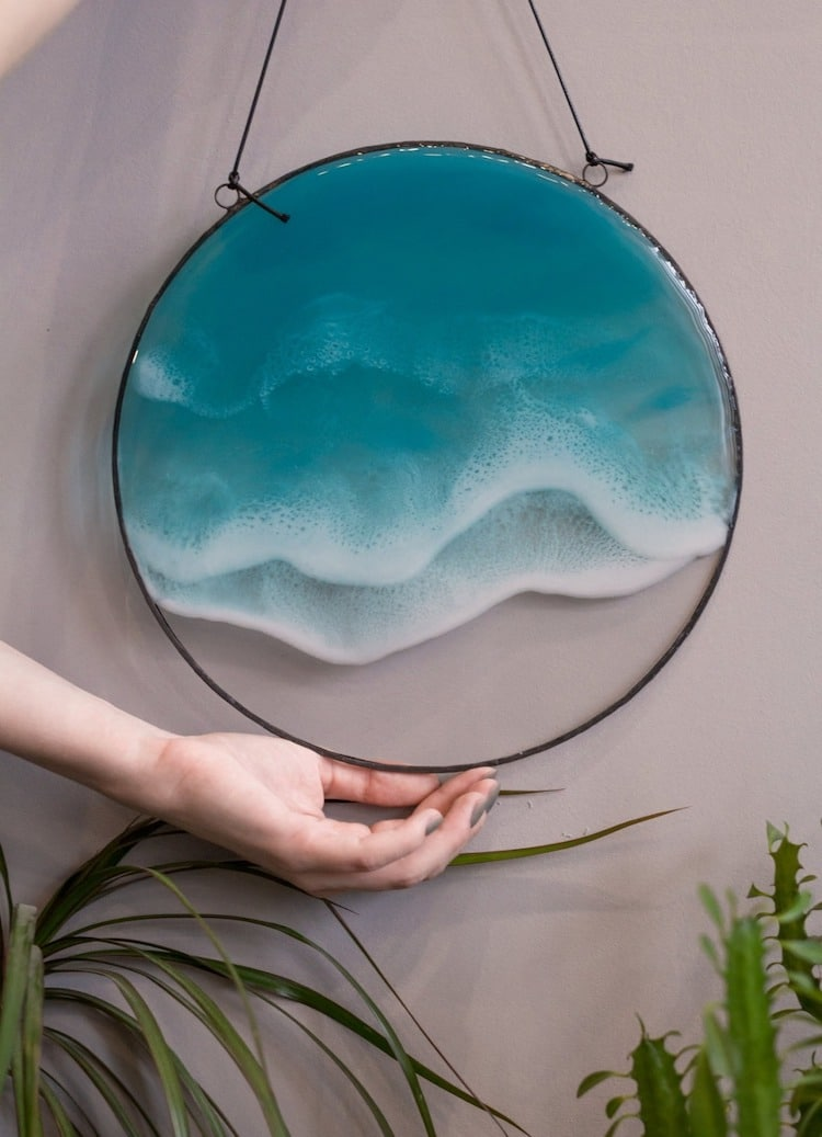Ocean Resin Art by Anna Paschenko