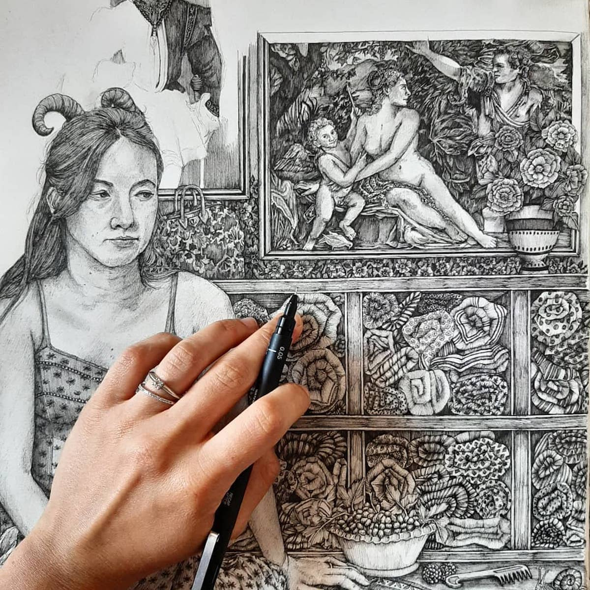 Pen Drawings by Olivia Kemp