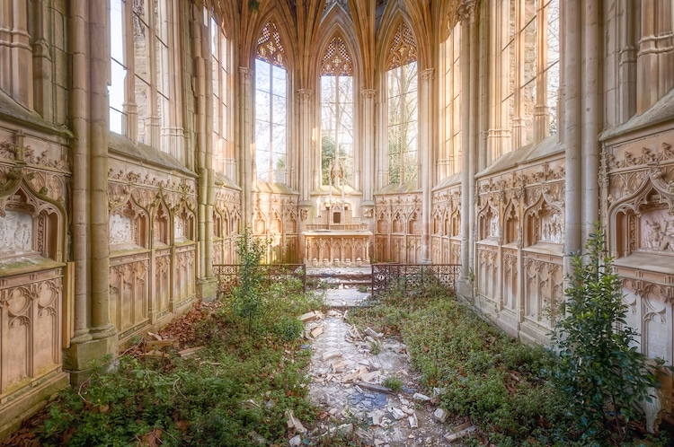 Abandoned Church Overrun by Nature