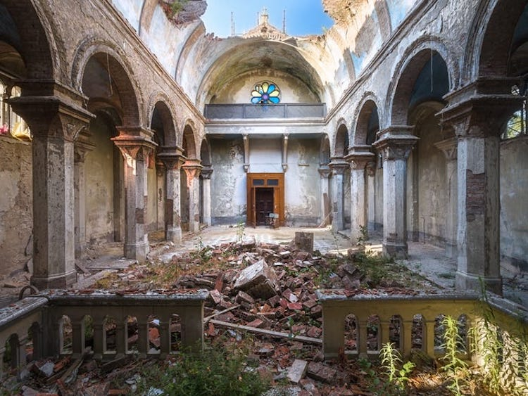 Abandoned Church Without a Roof