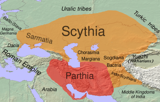 Map of Ancient Scythia