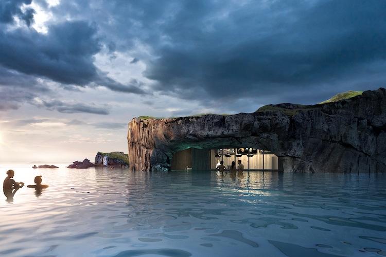 Sky Lagoon aguas termales en islandia