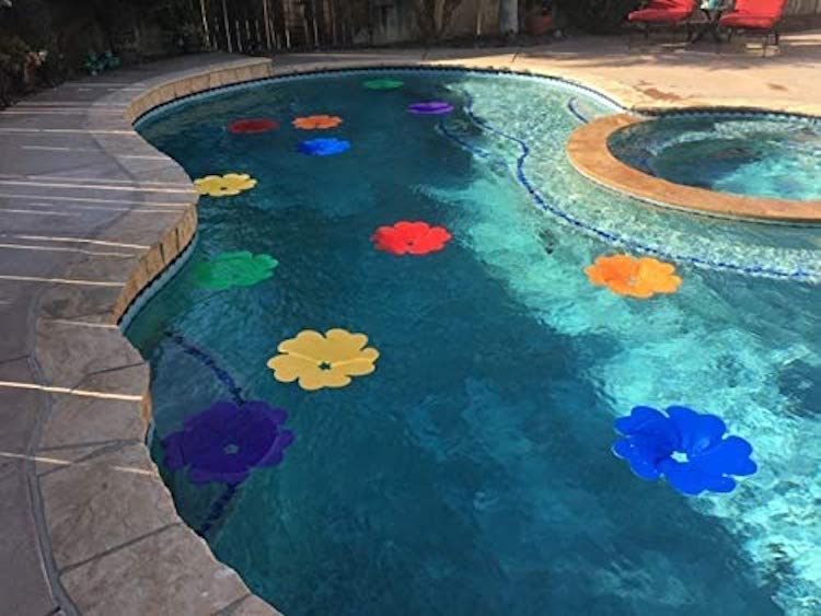 Solar Panel Pool Flowers