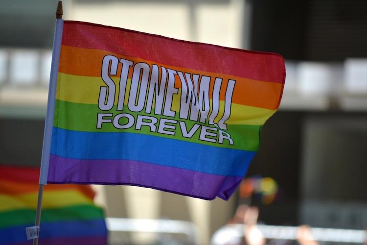 Pride Flag Celebrating the Stonewall Inn