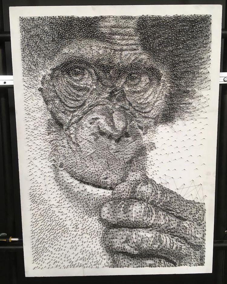 arte con hilo por Ben Koracevic