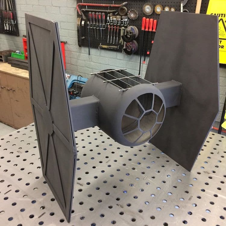 Star Wars Tie Fighter Fire Pit by Simon Gould