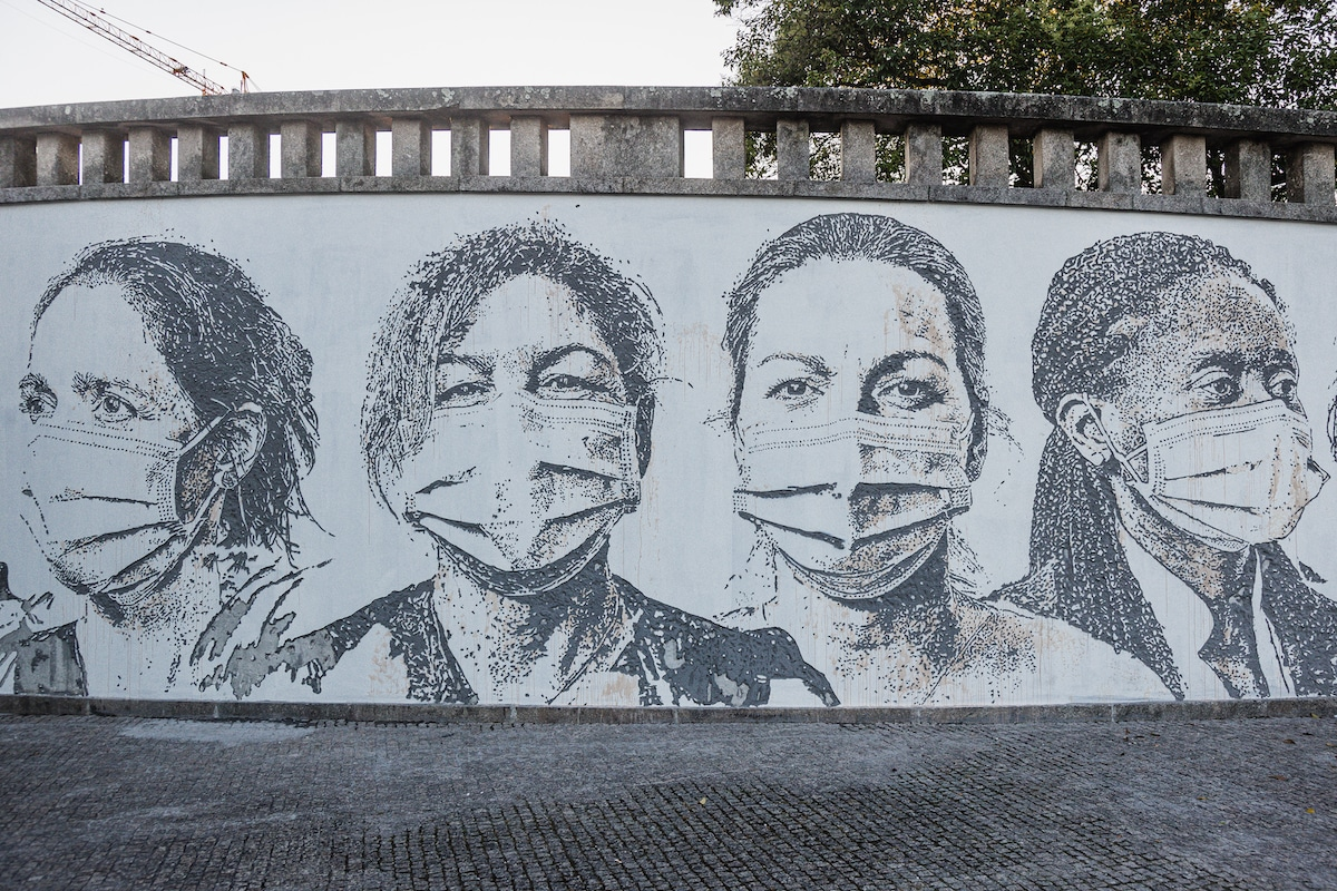 Portrait of Frontline Healthcare Workers During Coronavirus by Vhils