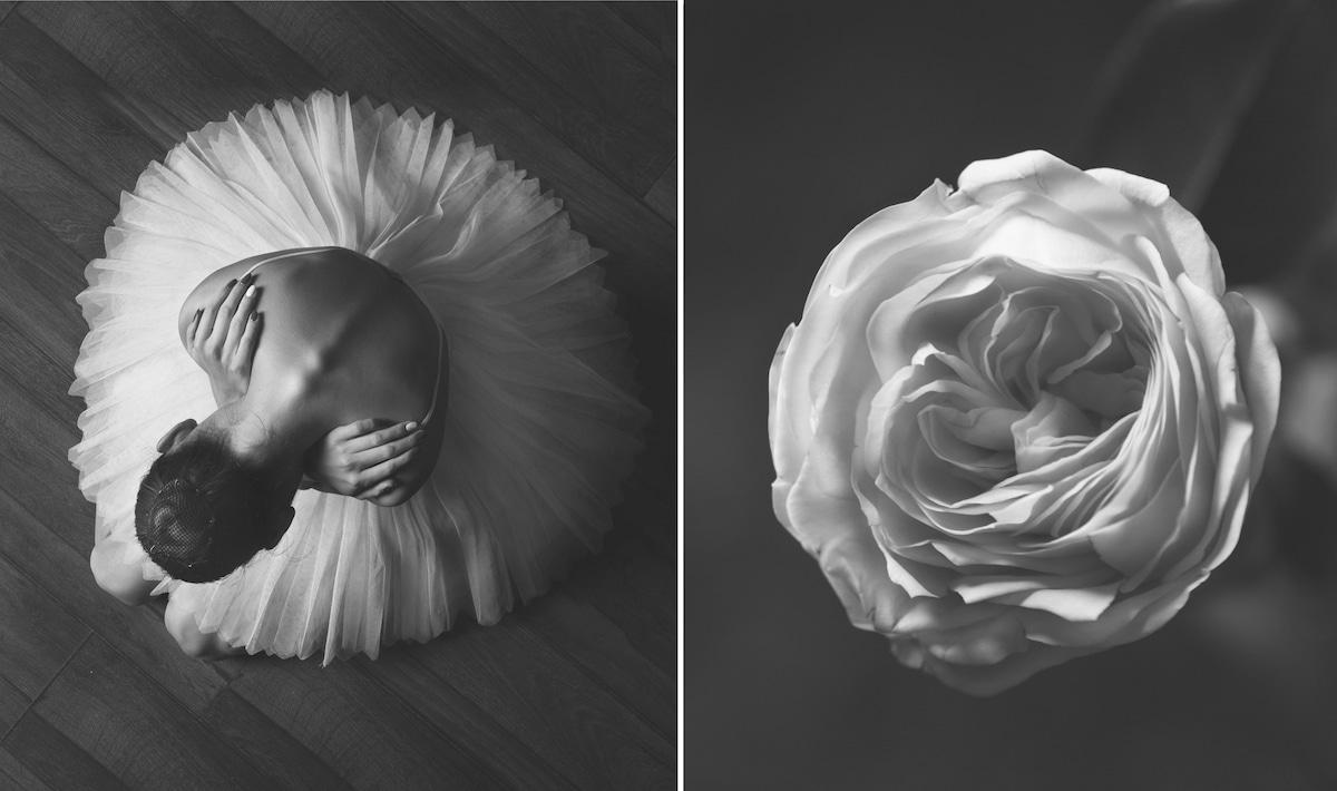 bailarinas de ballet y flores por Yulia Artemyeva