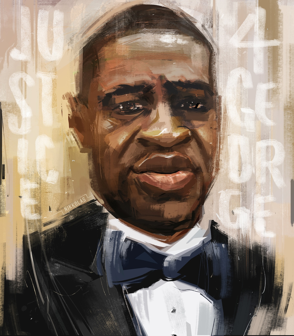 George Floyd Portait by Nikkolas Smith