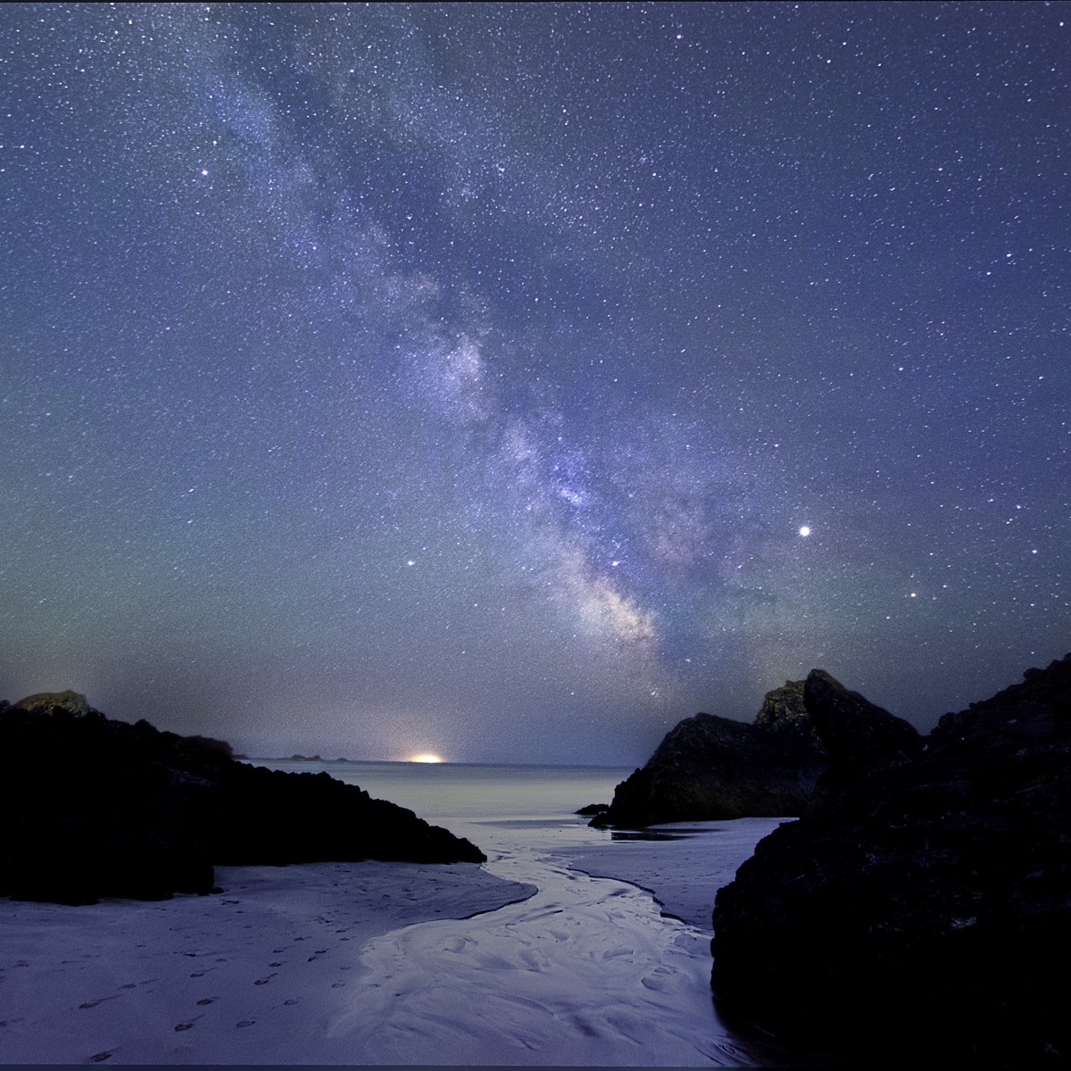 Kynance Cove under the Milky Way