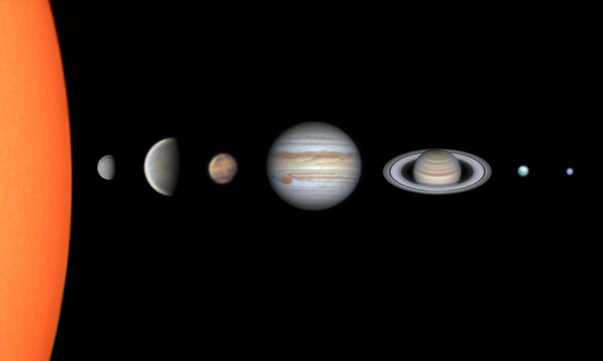 Composite Image of the Solar System