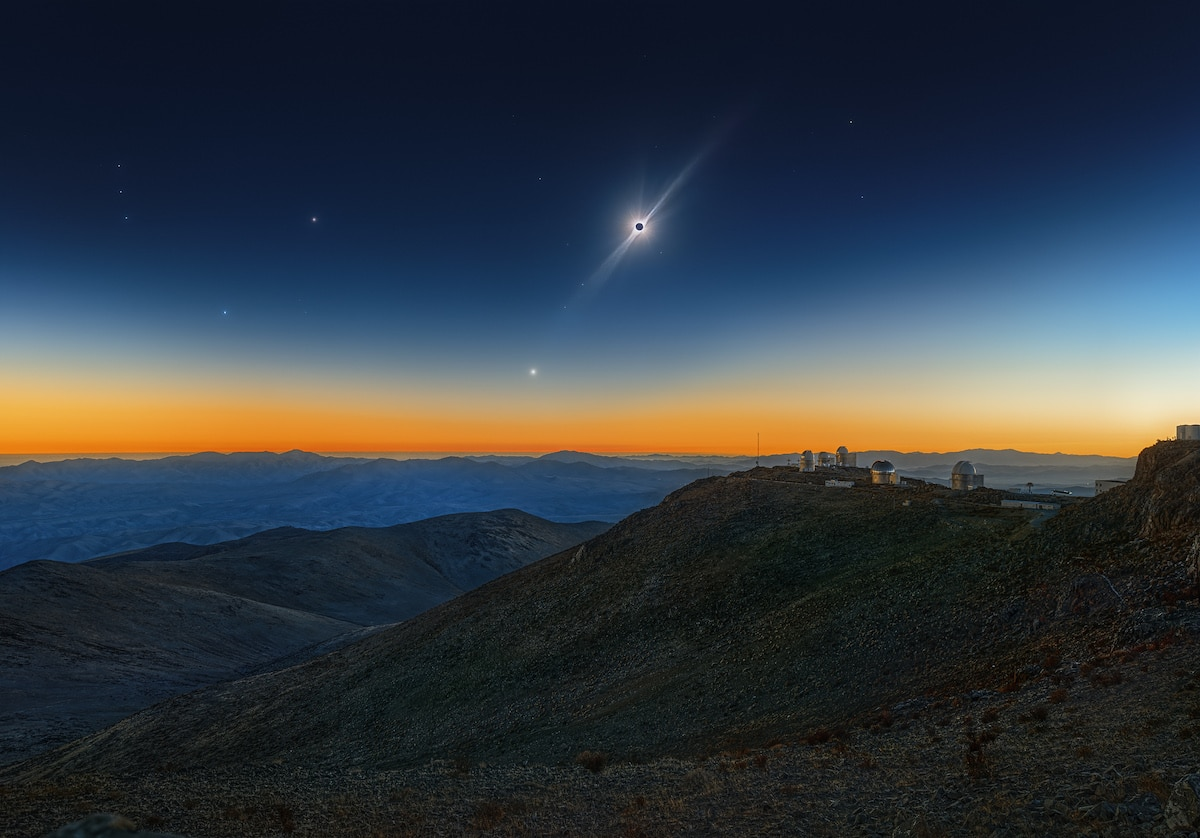 Solar Eclipse with Venus and the Red Giant Betelgeuse
