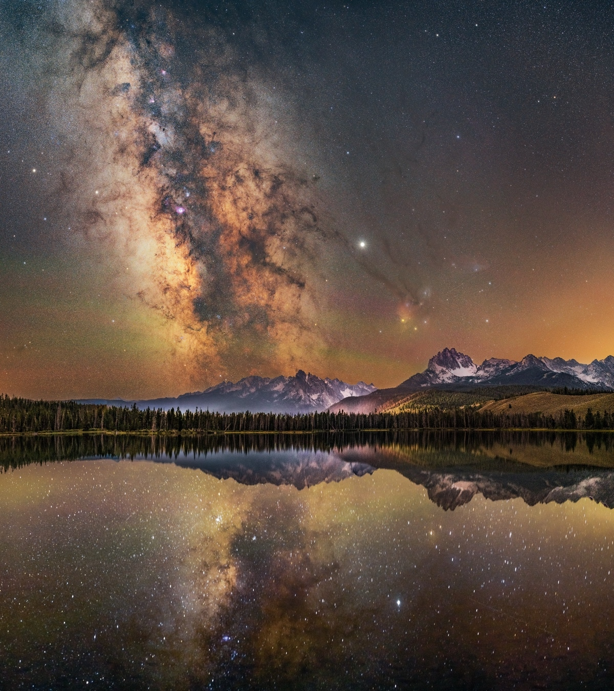 Milky Way Over Little Redfish Lake