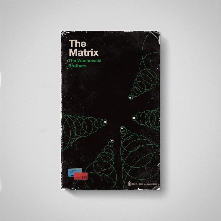 The Matrix Movies as Old Books by Matt Stevens