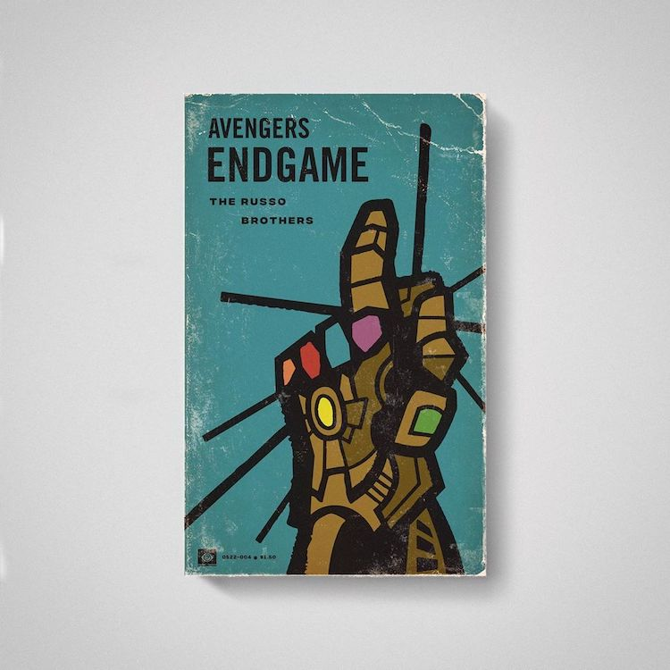 Avengers Endgame as Old Books by Matt Stevens